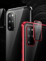 cheap -screen protector case for samsung galaxy s20 ultra magnetic cover double tempered glass built in lens protector, black
