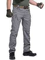 cheap -men's work cargo tactical pants stretch cotton outdoor combat military pants grey