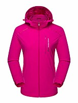 cheap -misaky women's hooded raincoat outdoor sport quick-drying breathable solid zipper overcoat jacket(hot pink, xl)