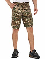cheap -men's quick dry tactical shorts rip-stop hiking cargo shorts camo army military bdu outdoor shorts with 8 pockets 00852 cp camo 32
