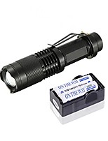 cheap -5-mode 1200lm xm-l t6 led zoomable led flashlight 18650 mini flashlight torch lamp outdoor light with belt clip + 2800mah 18650 batteries + dual channel charger (black)