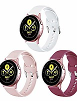 cheap -3 pack bands compatible with samsung galaxy watch active 2 bands(40mm)(44mm)/galaxy active/galaxy watch 3(41mm) /galaxy watch(42mm),20mm width (white/pink sand/wine red, large)