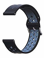 cheap -22mm watch band silicone breathable,  quick release band replacement for samsung galaxy watch (46mm), samsung gear s3 classic/frontier, vector luna watch band (black/gray, small)