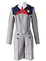 cheap -anime darling in the franxx cosplay costumes hiro uniforms halloween carnival party (m) grey