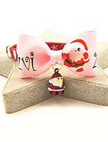 cheap -Dog Cat Collar Christmas Dog Collar Tie / Bow Tie With Bell Adjustable Flexible Outdoor Santa Claus Snowman Christmas Tree Nylon Golden Retriever Corgi Bulldog Bichon Frise Schnauzer Poodle Pink 1pc