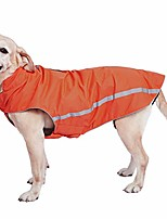 cheap -dog winter jacket - cozy reflective waterproof dog winter coat windproof warm winter dog jacket comfortable dog apparel for cold weather unique stylish for large dogs walking hiking travel orange 4xl