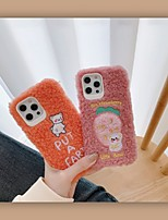 cheap -Case For Apple iPhone 12 / iPhone 11 / iPhone 12 Pro Max Shockproof Back Cover Solid Colored / Cartoon TPU