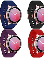 cheap -galaxy active 2 watch bands with rose gold buckle,4-pack sports wristband for galaxy watch active/active2 40mm/44mm,galaxy watch 42mm for women gift (black/navy blue/red/purple, small)