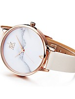 cheap -fashion marble dial rose gold women watches white leather band luxury quartz watches girls ladies wristwatch relogio feminino