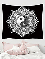 cheap -Tai Chi Mandala Bohemian Wall Tapestry Art Decor Blanket Curtain Hanging Home Bedroom Living Room Dorm Decoration Boho Hippie Indian Polyester Psychedelic Floral Flower Lotus