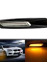 cheap -Smoked LED Side Marker Turn Signal Light Repeaters Lamp Assembly For BMW E90 E91 E92 E93 E60 E61 F10 E39 E46 E36 E53 X3 E83 X1 X5 E84 E81 E82 E87 E88 Black(One Pair) 5 Colors To Choice