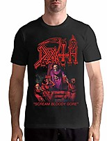 cheap -men's death scream bloody gore shirt graphic design black xl