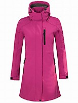 cheap -women's long waterproof soft shell jacket, outdoor camping hiking leisure sports jacket soft shell coat hooded,pink,m