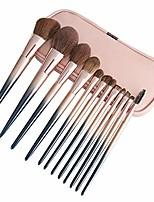 cheap -12pcs soft makeup brushes set premium synthetic liquid foundation eye shadow highlight blush makeup tools