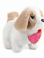 cheap -electronic dog soft toy plush puppy dog interactive puppy plush animated pet dog cute robot dog baby toys walking barking for children boy girls with video