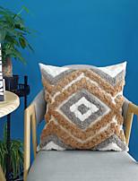 cheap -Cushion Cover Cotton Crude Canvas cluster Velvet Pillow Case Cover Stereoscopic Plush Pillow Case Cover Living Room Bedroom Sofa Cushion Cover