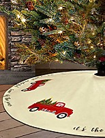 cheap -red truck christmas tree skirt cotton velvet xmas tree skirts double layers for party holiday christmas decorations xmas ornaments, 36 inch, beige
