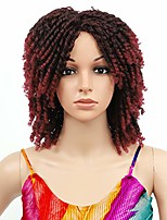 "cheap -14"" short braided wigs for black women dreadlock twist synthetic curly wig for black women ombre curly wig (t1b/bug)"
