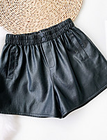 cheap -Women's Basic Streetwear Comfort Daily Going out Shorts Pants Solid Colored Short Pocket Black