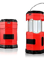 cheap -led camping lantern solar usb rechargeable aa battery 180 lumen collapsible portable water resistant outdoor survival flashlight for hiking camping tent garden patio jogging fishing (red)