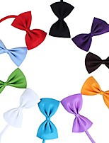 cheap -50 pcs multicolor pet bow ties tie collar dog neckties kitty cat puppy grooming accessories size 10.57cm