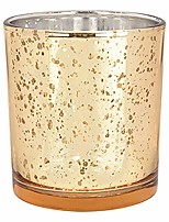 cheap -mercury glass votive candle holders 4-inch speckled gold (set of 6) - mercury glass votive candle holders for weddings and home décor