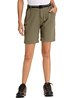 cheap -women's hiking pants, outdoor elastic wasit quick dry stretch upf 50 zipper pockets capris (2057 khaki 28