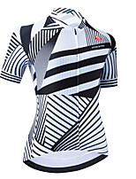 cheap -Women's Short Sleeve Cycling Jersey White Stripes Bike Top Mountain Bike MTB Road Bike Cycling Breathable Quick Dry Sports Clothing Apparel / Stretchy / Athletic