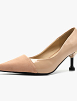 cheap -Women's Heels Stiletto Heel Pointed Toe Classic Daily Nubuck Patent Leather Color Block Black Pink Gray