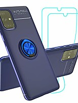 cheap -case for samsung galaxy a51 4g [not for a51 5g] with 2 screen protectors, kickstand holder fullbody shockproof soft silicone protective accessories cover for galaxy a51 4g-blue
