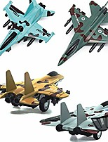 cheap -pull back airplane toy set die cast metal military themed fighter jets, good for kids toy set collection - 4 pcs (blue)