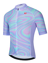 cheap -Men's Short Sleeve Cycling Jersey Purple Bike Top Mountain Bike MTB Road Bike Cycling Breathable Quick Dry Sports Clothing Apparel / Stretchy / Athletic