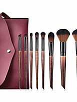 cheap -makeup brush set, retro style, brown, loose powder brush, eye shadow brush, oblique tail, makeup tool set