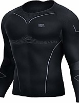 cheap -thermal underwear for men, sport long johns base layer for male compression tops winter gear for skiing running black