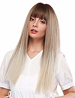 cheap -long silky straight blonde wigs for women elegant ombre blonde wigs with brown roots synthetic hair replacement wigs for cosplay fancy dress party daily