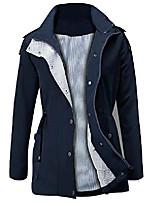 cheap -women's raincoats waterproof lightweight rain jacket active outdoor hooded trench coats (3-navy, small)