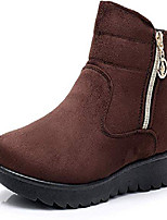 cheap -women's winter snow ankle boots-comfort warm fur lining waterproof outdoor slip on booties sneakers 8 brown-height 12 cm-xwx7144