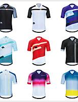 cheap -Men's Women's Short Sleeve Cycling Jersey Downhill Jersey Dirt Bike Jersey Black / Silver Red / White Green / Yellow Bike Tee Tshirt Shirt Sweatshirt Mountain Bike MTB Road Bike Cycling Sports