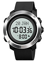 cheap -SKMEI Men's Sport Watch Digital Formal Style Modern Style Classic Water Resistant / Waterproof Digital Black / Silver Black+Grey White / Green / One Year / Silicone