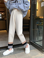 cheap -Women's Basic Streetwear Comfort Daily Going out Pants Chinos Pants Multi Color Full Length White Black Gray