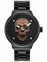 cheap -3d skull watch 30m waterproof steel wrist watch for men wr67