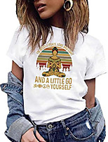 cheap -women i'm mostly peace love and light t-shirt - retro vintage sunshine for yoga lovers meditation and spirituality tee white