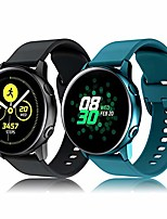 cheap -bands compatible for samsung galaxy watch 3/active bands/active2 bands 40mm/42mm/44mm, silicone wristband compatible for samsung galaxy watch gear s2 classic/gear sport smart watch