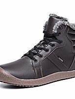 cheap -womens winter boots plush lining ankle booties outdoor low heel non-slip snow boot brown 6.5 m us