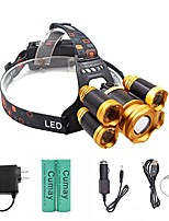 cheap -rechargeable led headlamp, super bright 4 modes led headlight waterproof, zoomable headlamps for cycling, running, dog walking, camping, hiking, fishing