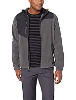 cheap -men's conversion fleece jacket, dark shadow/black, m