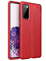cheap -galaxy s20 fe case, slim luxury leather pattern design soft rubber shock absorption protective bumper phone case cover for samsung galaxy s20 fe 5g (2020) - red
