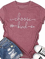 cheap -choose kind tshirt womens short sleeve casual t shirt top tee with saying size m (as shown)