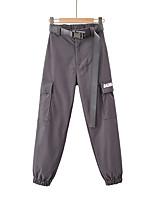 cheap -Women's Basic Streetwear Comfort Daily Going out Pants Tactical Cargo Pants Print Full Length Pocket Black Khaki Gray
