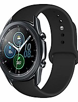 cheap -22mm soft silicone watch bands compatible for samsung galaxy watch 46mm/samsung galaxy watch 3 45mm/gear s3 frontier/classic, sport strap wristband replacement bracelet for women men